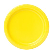 "7"" Neon Yellow Party Plates, 20ct"
